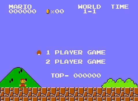 Игра Mario на приставках Famicom