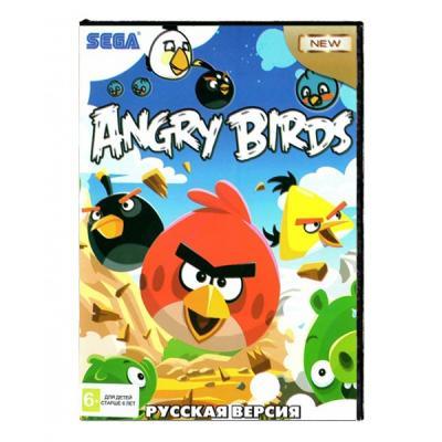 Angry Birds / Ангри Бердс (Sega) лицевая сторона картриджа