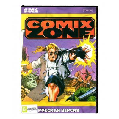 Comix Zone (Sega) лицевая сторона картриджа