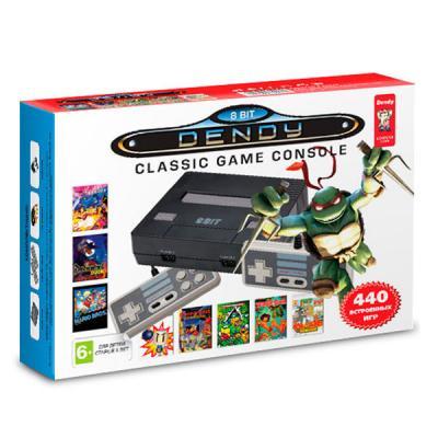 Dendy «Turtles» + 440 игр (Black)