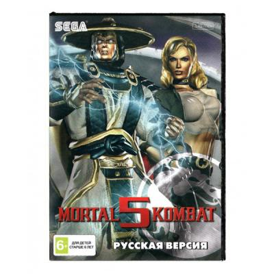 Mortal Kombat 5 (Sega) лицевая сторона картриджа