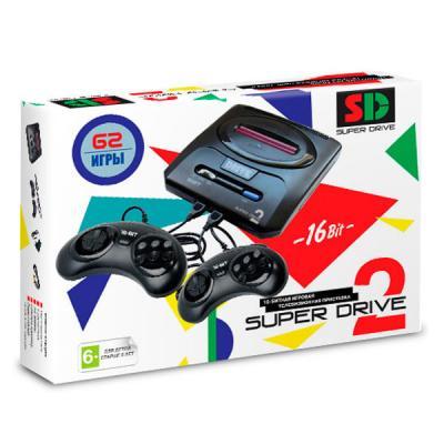 Sega Mega Drive 2 + 62 игры (White)