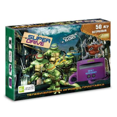 Sega Super Drive «Turtles» + 50 игр
