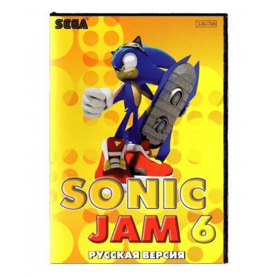 Sonic Jam 6 (Sega) лицевая сторона картриджа