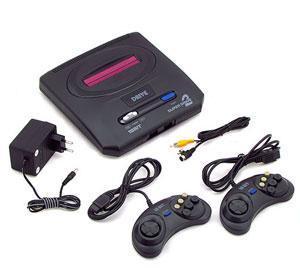 Sega Mega Drive 2 + 62 игры (Black)