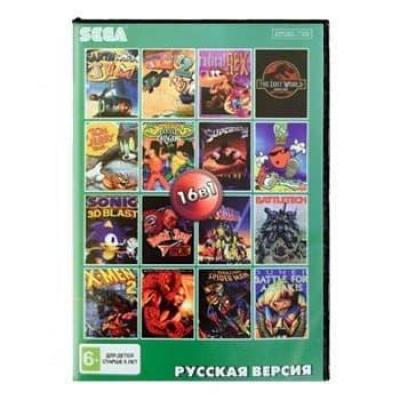 Сборник для Сеги 16 игр в 1 картридже (16в1) №3 Мужской сборник