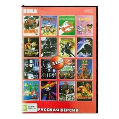 Сборник для Сеги 32 игр в 1 картридже (32в1) Микс Жанров