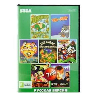 Сборник для Сеги 7 игр в 1 картридже (7в1) Детский Сборник