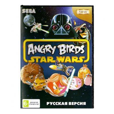 Angry Birds: Star Wars (Sega) лицевая сторона картриджа