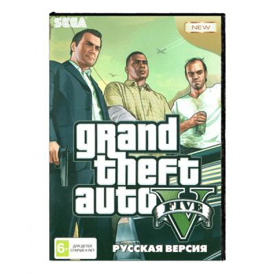 Grand Theft Auto V GTA (Sega) лицевая сторона картриджа