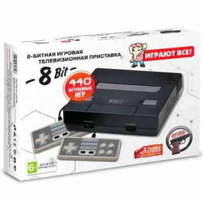 8 бит NES (White) с пистолетом + 440 встроенных игр