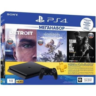 Игровая Приставка PlayStation 4 (CUH-2208B) Slim (1TB) + Detroit: Стать Человеком+Одни Из Нас+Horizon Zero Dawn