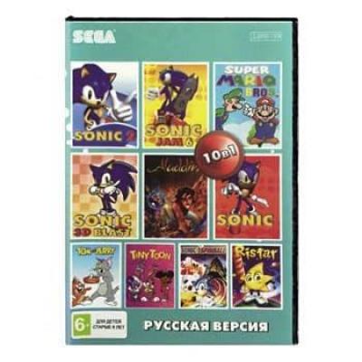 Сборник для Сеги 10 игр в 1 картридже (10в1) №2 Детский Сборник