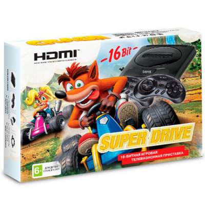 Sega Super Drive Crash HDMI + картридж 24 в 1