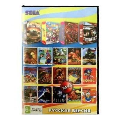 Сборник для Сеги 25 игр в 1 картридже (25в1) №1