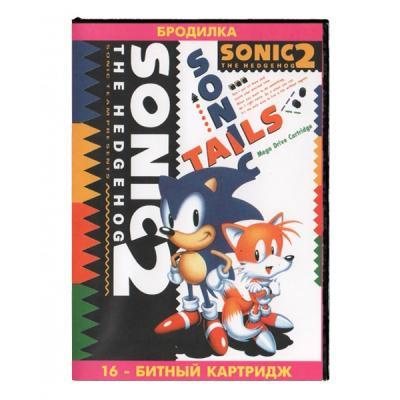 Sonic 2 / Соник 2 лицевая сторона картриджа