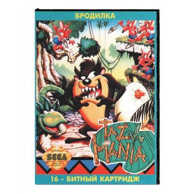Taz-Mania / Таз-мания (Sega) лицевая сторона картриджа