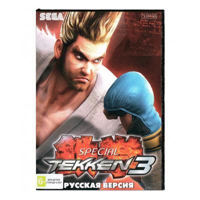 Tekken 3 (Sega) лицевая сторона картриджа